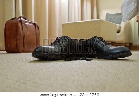 Men's Shoes And Suitcase
