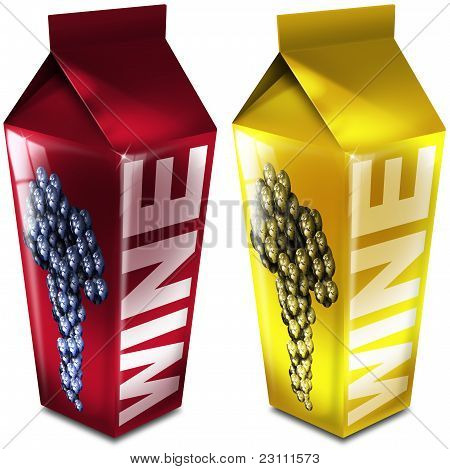 Red and white wine packaging