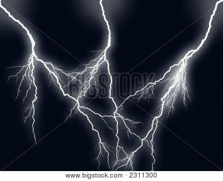Large Lightning Storm