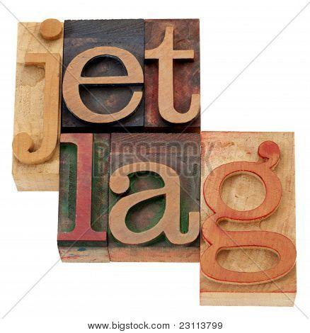 Tipo de impressão tipográfica de Jet Lag N