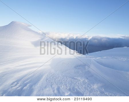 Snow Creation Over The Clouds