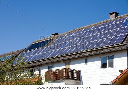 Solarcells on a roof