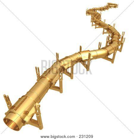 Gilded Oil Pipeline