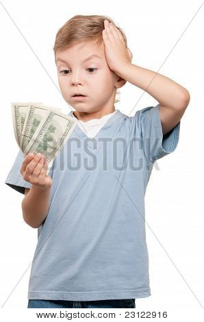 Boy with dollars