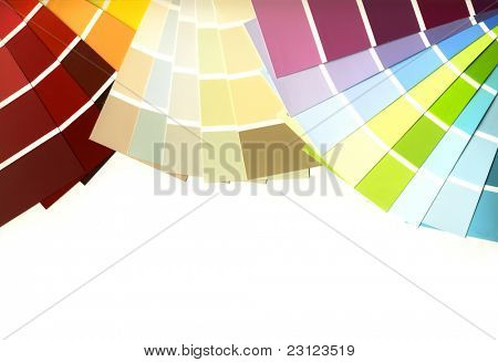 Clipping path, color guide isolated on a white background.