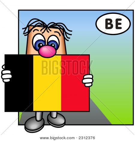 'Paley' Showing The Belgium Flag
