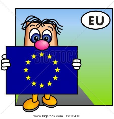 'Paley' Showing The Flag Of The European Union