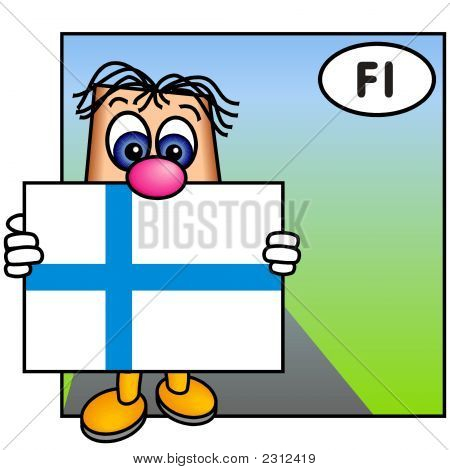 'Paley' Showing The Flag Of Finland