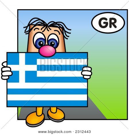 'Paley' Showing The Flag Of Greece