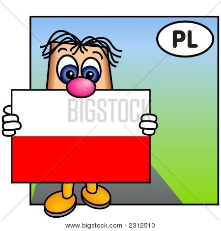 'Paley' Showing The Flag Of Poland