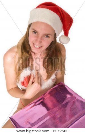 Sorprendió feliz Navidad chica