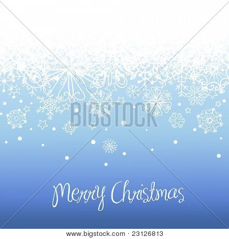 Blue Christmas background with space for text.