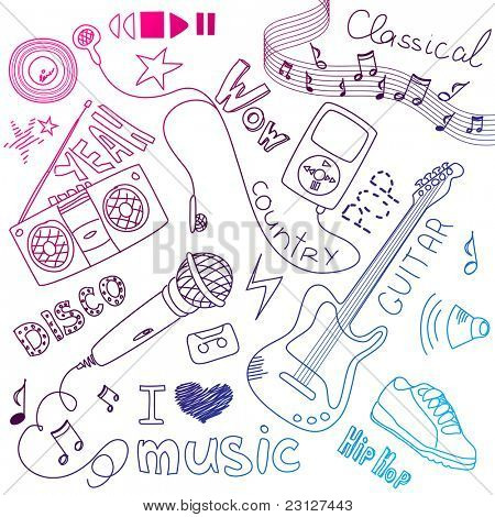 Music Vector Doodles