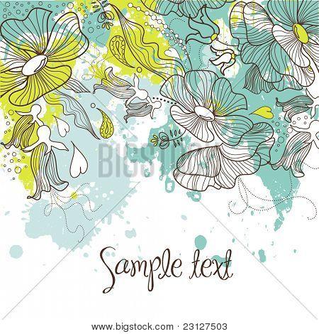 Fondo floral con estilo