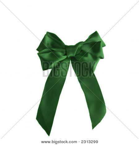 Green Xmas Bow