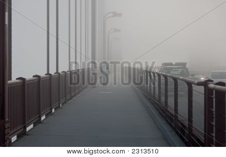 Goldengate Bridge In Fog