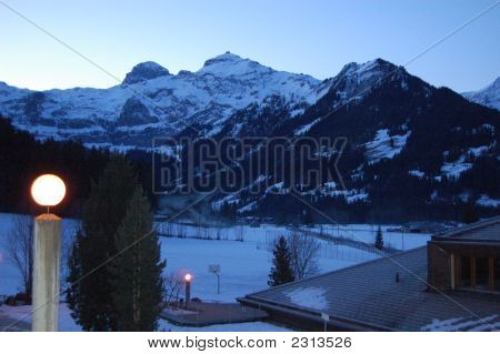 Wildstrubel Mountain Panorama