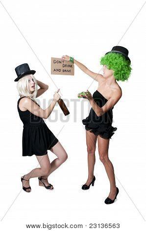 Women Holding Sign