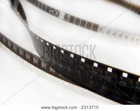 Close-Up Fragment Of Film Strip