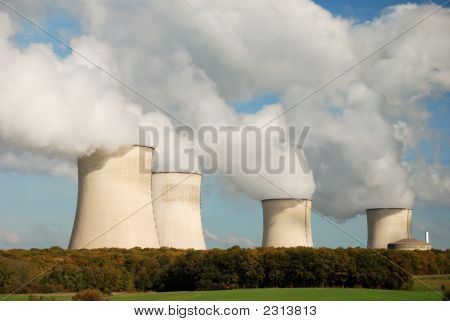 Cooling Towers Of A Nuclear Power Station