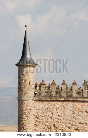 Detail Of Alcazar Of Segovia, Spain