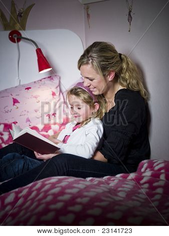 Mother And Daughter Storytelling