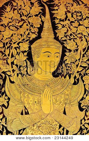 Angel painting, thai style