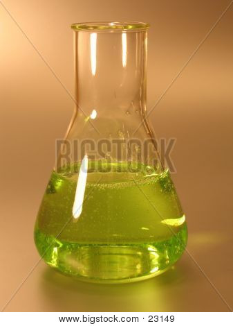 Green Conical Flask II