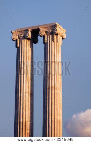 Two Greek Columns