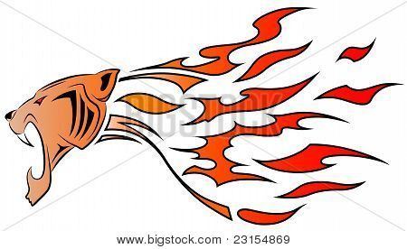 Leopard And Flame, Tribal Tattoo