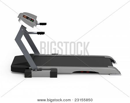 Treadmill isolated on white background, fitness, gym