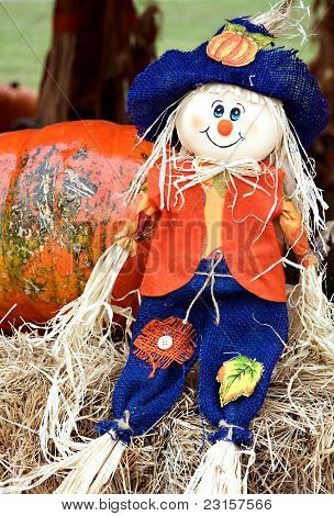 Thanksgiving Halloween Fall Straw Doll