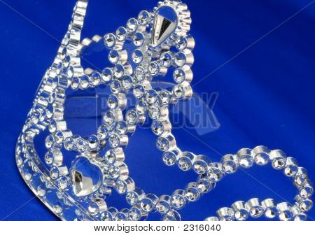 Tiara With Blue Background