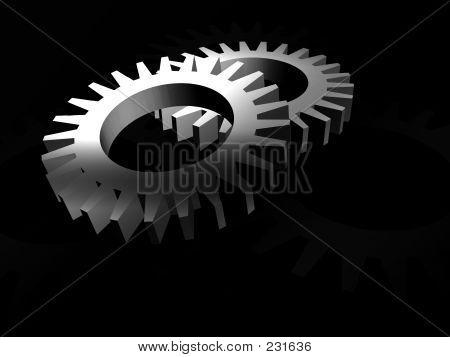 Gears In Silver