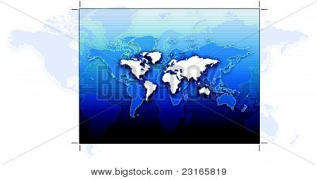 Background of world, modern blue