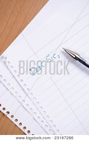 Dear Sir Letter