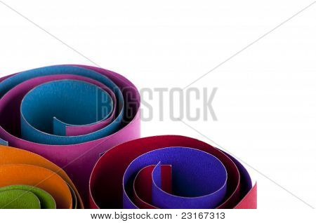 Colorful Paper Rolls