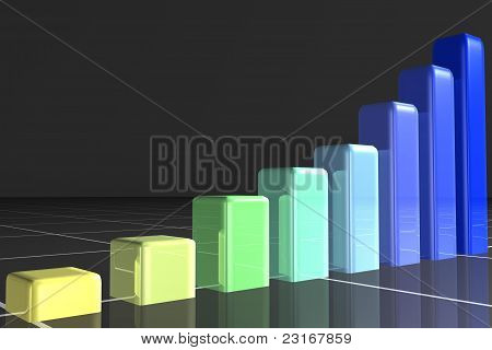 Different Coloured And Heighted Bars