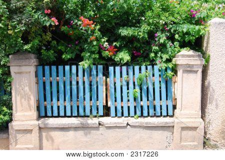 Beautiful Garden And Gate