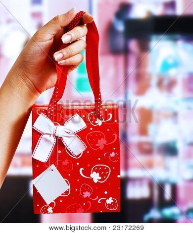Holding A Gift Wrapped Present