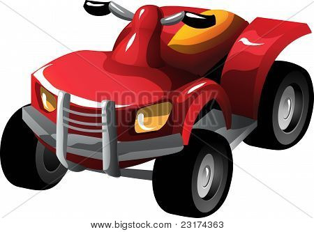 Cartoon quad bike