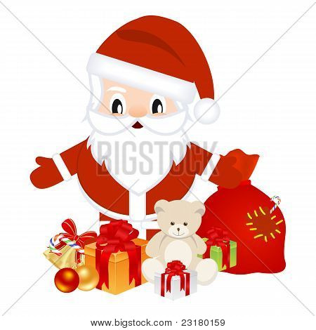 Santa With Christmas Gifts