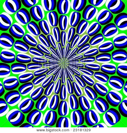 Psychedelic Peacock  (motion illusion)