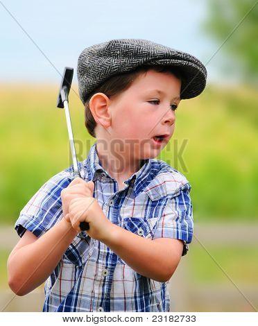 Litte Boy Golfer