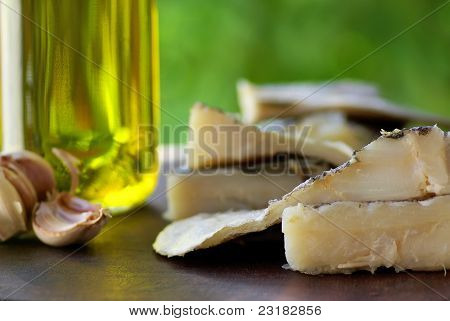 Codfish, Oil And Garlic.