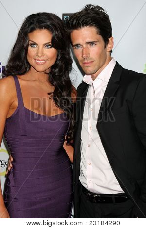 LOS ANGELES - AUG 1:  Nadia Bjorlin, Brandon Beemer arriving at the NBC TCA Summer 2011 Party at SLS Hotel on August 1, 2011 in Los Angeles, CA