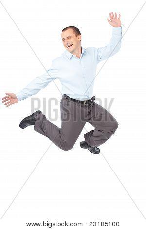 Businessman Jumping For Joy