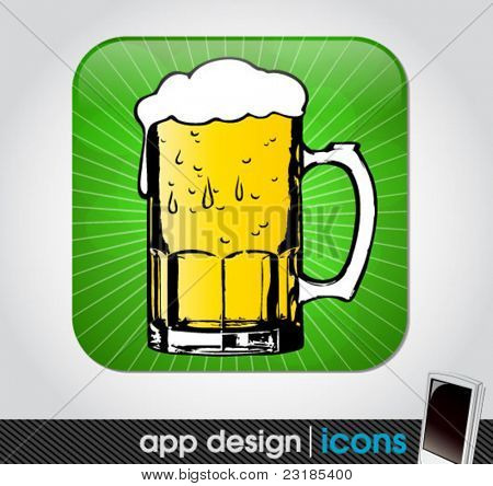 beer app icon for mobile devices