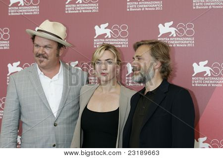 VENICE -SEP 1: John C Reilly; Kate Winslet; Christoph Waltz at the 68th Venice International Film Festival in Venice, Italy on September 1, 2011.