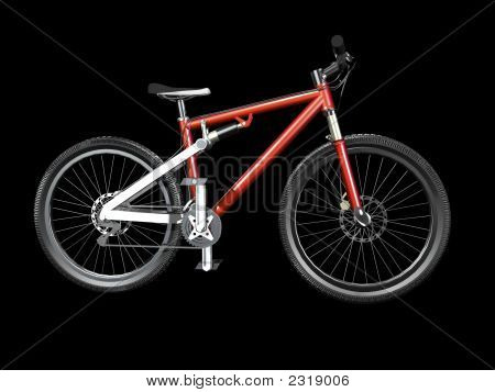 3D Mountain Bike Red